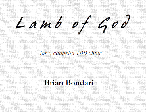LAMB OF GOD, by Brian Bondari (PDF)