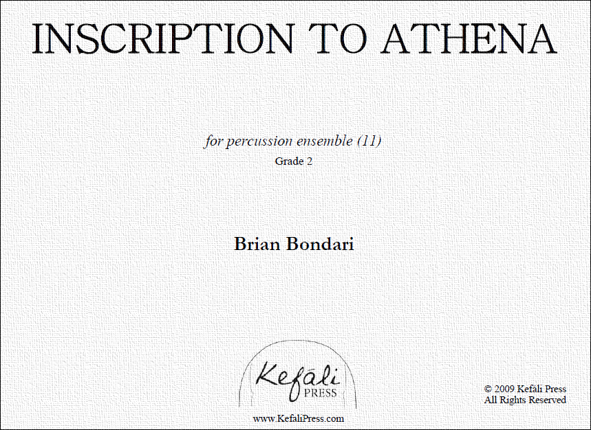 INSCRIPTION TO ATHENA, by Brian Bondari (PDF)